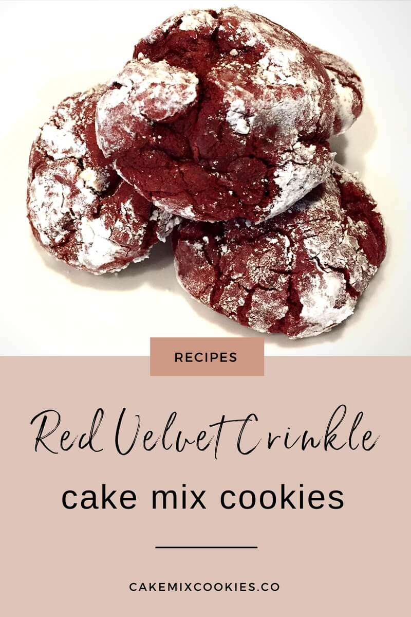 Red Velvet Crinkle Cake Mix Cookies